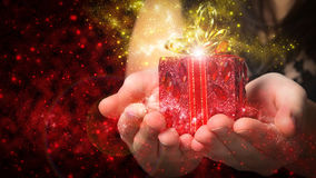 Κόκκινα Χριστούγεννα δώρων Στοκ φωτογραφία με δικαίωμα ελεύθερης χρήσης