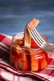 Κόκκινα ψάρια στη σάλτσα Στοκ εικόνα με δικαίωμα ελεύθερης χρήσης