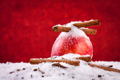 Κόκκινα cóChristmas Apple Στοκ Εικόνα
