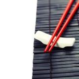Κόκκινα chopsticks Στοκ Φωτογραφία