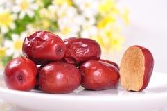 Κόκκινα jujube-ξηρά φρούτα Στοκ Εικόνες