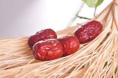 Κόκκινα jujube-ξηρά φρούτα στοκ εικόνα