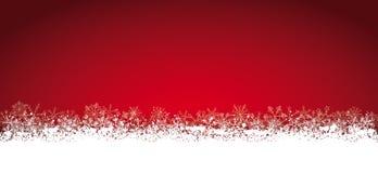 Κόκκινα Snowflakes καρτών Χριστουγέννων Lon Στοκ εικόνες με δικαίωμα ελεύθερης χρήσης