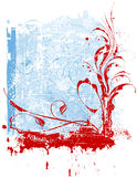 κόκκινα snowflakes λουλουδιών ελεύθερη απεικόνιση δικαιώματος