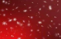 κόκκινα snowflakes Χριστουγέννων ανασκόπησης Στοκ Φωτογραφία