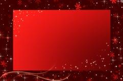 κόκκινα snowflakes Χριστουγέννων ανασκόπησης Στοκ φωτογραφία με δικαίωμα ελεύθερης χρήσης