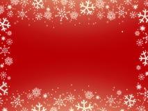 κόκκινα snowflakes Χριστουγέννων &alp ελεύθερη απεικόνιση δικαιώματος