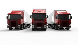 κόκκινα truck Στοκ εικόνα με δικαίωμα ελεύθερης χρήσης