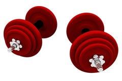 κόκκινα weightlifting βάρη Στοκ φωτογραφίες με δικαίωμα ελεύθερης χρήσης