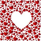 Κόκκινες άσπρες καρδιές Στοκ φωτογραφίες με δικαίωμα ελεύθερης χρήσης