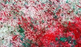 Κόκκινες αργυροειδείς πράσινες μαλακές αντιθέσεις μιγμάτων, υπόβαθρο watercolor χρωμάτων, αφηρημένο υπόβαθρο watercolor ζωγραφική στοκ φωτογραφία με δικαίωμα ελεύθερης χρήσης