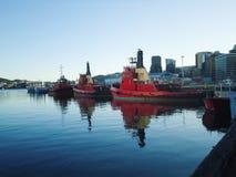 Κόκκινες βάρκες στοκ εικόνα