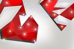 κόκκινες γεωμετρικές μορφές, αφηρημένο υπόβαθρο Στοκ Φωτογραφίες