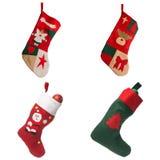 Κόκκινες γυναικείες κάλτσες Χριστουγέννων Στοκ φωτογραφία με δικαίωμα ελεύθερης χρήσης