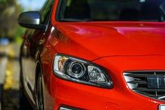 Κόκκινες λεπτομέρειες αυτοκινήτων πολυτέλειας Στοκ Εικόνες