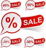 κόκκινες ετικέττες πώλη&sigm Στοκ εικόνες με δικαίωμα ελεύθερης χρήσης