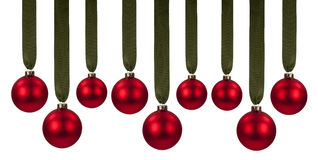 Κόκκινες διακοσμήσεις Χριστουγέννων Στοκ Φωτογραφίες