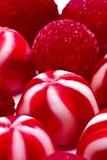 Κόκκινες καραμέλες και ζελατίνες Στοκ Εικόνες