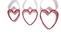 Κόκκινες καρδιές Στοκ Φωτογραφίες