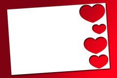 Κόκκινες καρδιές βαλεντίνων Στοκ εικόνα με δικαίωμα ελεύθερης χρήσης