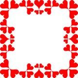 Κόκκινες καρδιές πλαισίων Στοκ Εικόνες