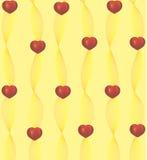 Κόκκινες καρδιές στις κομψές κορδέλλες ελεύθερη απεικόνιση δικαιώματος