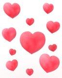 Κόκκινες καρδιές Στοκ Εικόνες