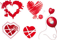 Κόκκινες καρδιές Στοκ εικόνα με δικαίωμα ελεύθερης χρήσης