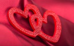 Κόκκινες καρδιές Στοκ Φωτογραφία