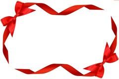 κόκκινες κορδέλλες πλ&alph Στοκ Εικόνα