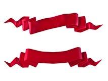 κόκκινες κορδέλλες Στοκ Εικόνα