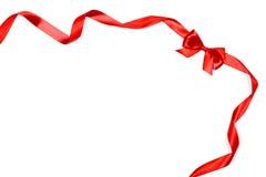 Κόκκινες κορδέλλες με το τόξο Στοκ εικόνα με δικαίωμα ελεύθερης χρήσης