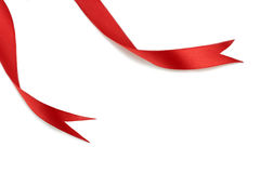 κόκκινες κορδέλλες Στοκ εικόνα με δικαίωμα ελεύθερης χρήσης