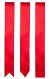 κόκκινες κορδέλλες Στοκ φωτογραφία με δικαίωμα ελεύθερης χρήσης
