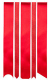 κόκκινες κορδέλλες Στοκ φωτογραφίες με δικαίωμα ελεύθερης χρήσης