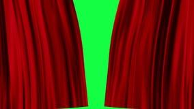 Κόκκινες κουρτίνες ανοικτές