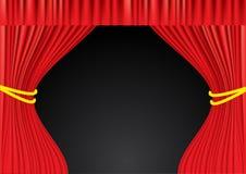 Κόκκινες κουρτίνες θεάτρων. Πλέγμα Στοκ Φωτογραφία
