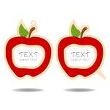 Κόκκινες λεκτικές φυσαλίδα και τιμή μήλων   Στοκ Φωτογραφίες