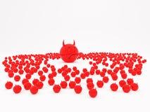 κόκκινες μορφές διαβόλων Στοκ Εικόνες