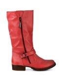 Κόκκινες μπότες δέρματος Στοκ εικόνες με δικαίωμα ελεύθερης χρήσης