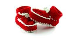 Κόκκινες μπότες μωρών Στοκ εικόνα με δικαίωμα ελεύθερης χρήσης