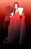 κόκκινες νεολαίες γυν&alp Στοκ φωτογραφία με δικαίωμα ελεύθερης χρήσης