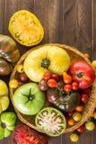κόκκινες ντομάτες οικογενειακών κειμηλίων χρωμάτων κίτρινες Στοκ Εικόνες