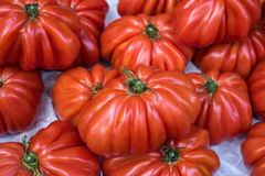 Κόκκινες ντομάτες στην αγορά Στοκ εικόνα με δικαίωμα ελεύθερης χρήσης