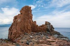 Κόκκινες πέτρες Arbatax Στοκ εικόνα με δικαίωμα ελεύθερης χρήσης