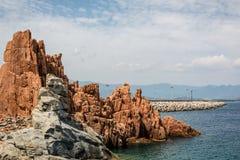 Κόκκινες πέτρες Arbatax Στοκ φωτογραφίες με δικαίωμα ελεύθερης χρήσης