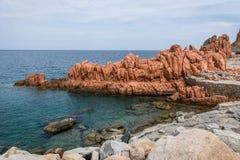 Κόκκινες πέτρες Arbatax Στοκ Φωτογραφία