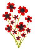 Κόκκινες παπαρούνες Watercolor Στοκ Φωτογραφίες