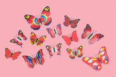 Κόκκινες πεταλούδες φαντασίας Στοκ εικόνα με δικαίωμα ελεύθερης χρήσης