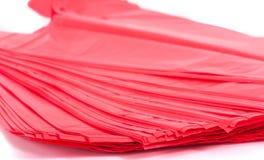 Κόκκινες πλαστικές τσάντες στοκ φωτογραφία